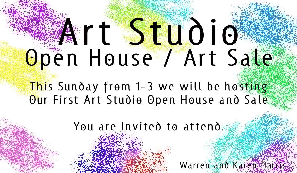 Art Studio Open House Announcement