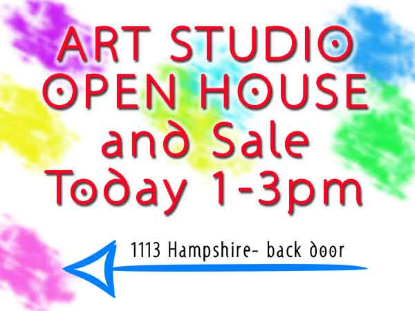 Art Studio Open House Signs